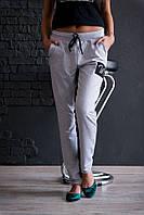 Женские спортивные штаны/трикотаж двухнитка/серые, красные, черные/