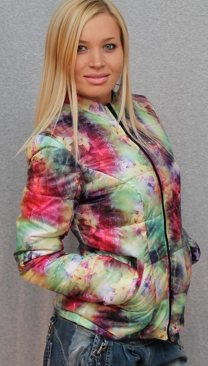 Куртка женская с цветочным принтом
