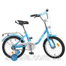 """Двухколесный велосипед Profi Flower 16"""" Голубой"""