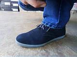 Летние мужские кеды,слипоны на шнурках Bertoni, фото 5