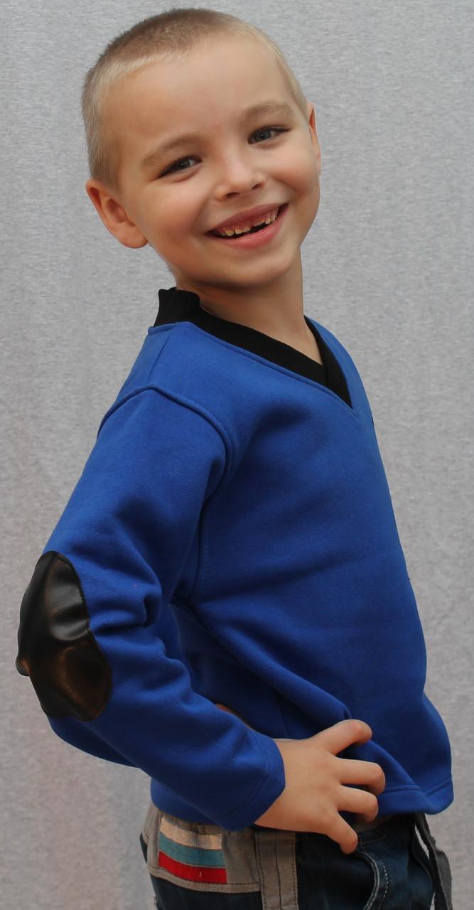 Толстовка для мальчика синяя