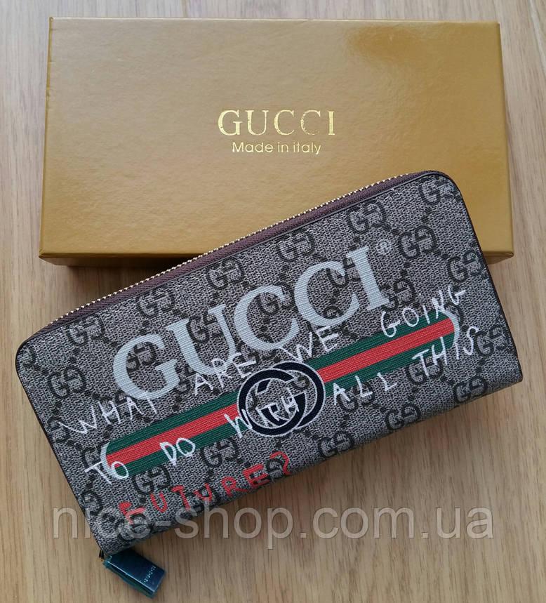 Кошелек Gucci на молнии , фото 2