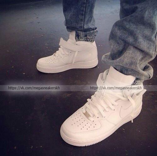 0e6141c2 Мужские кроссовки Nike Air Force 1 High White - Интернет-магазин обуви