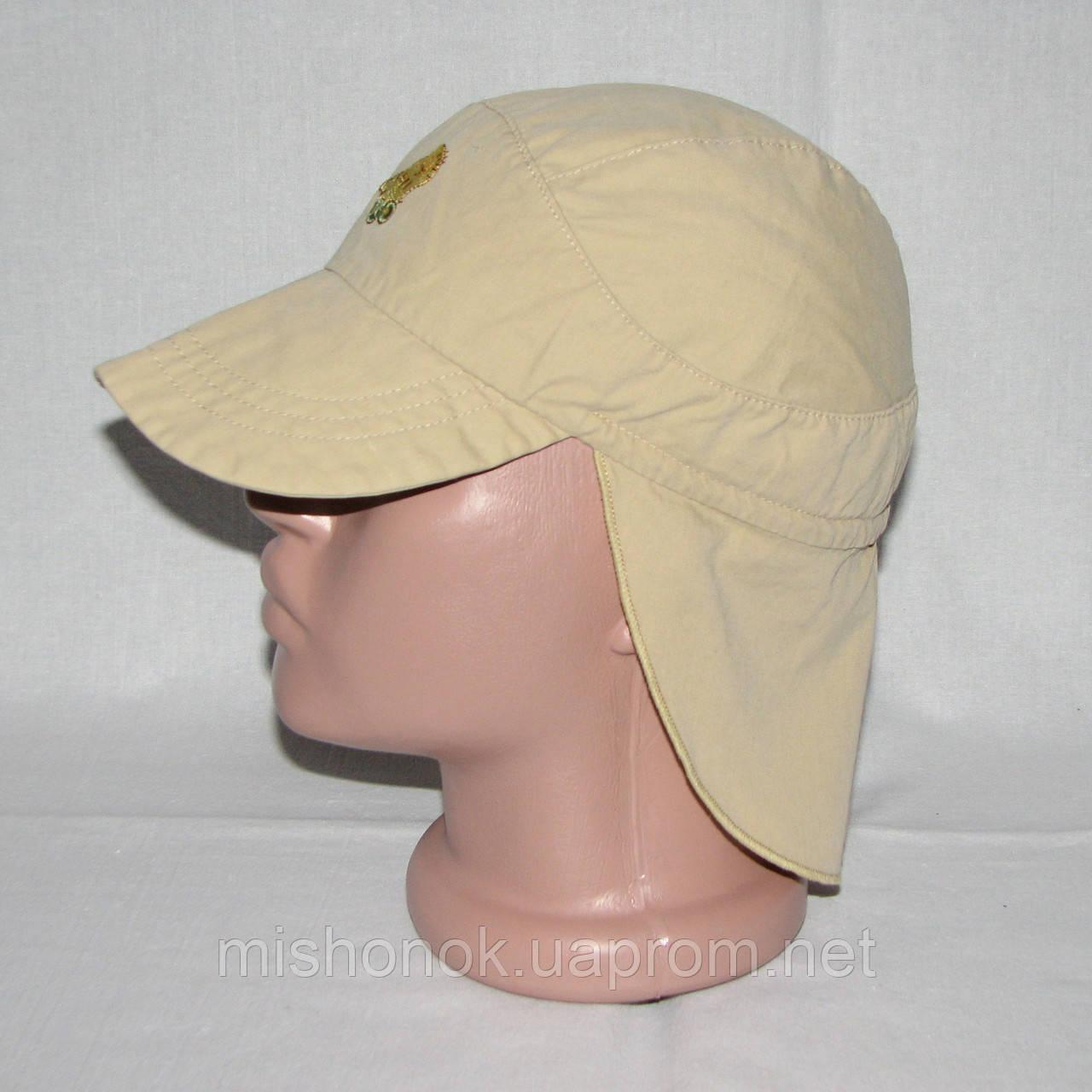 Панамка, кепка-легионерка с пелеринкой на затылке на 2-3 года, 47-50см