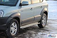 Пороги  Hyundai Tucson 2004-2010 /Ø50
