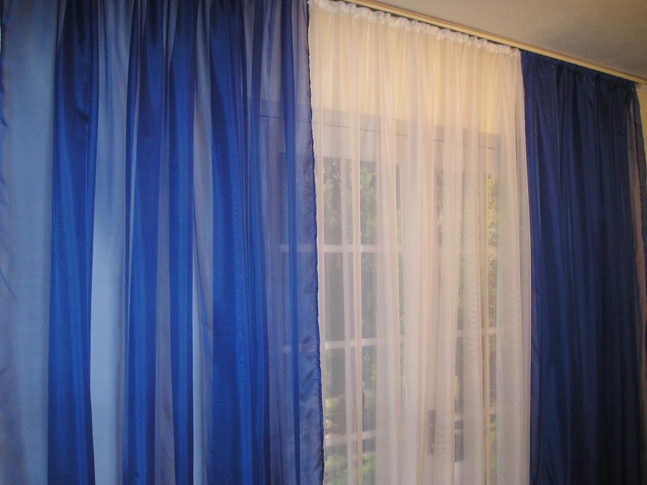 Готовые декоративные шторы из вуали 2шт.