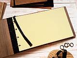 """Деревянная свадебная книга для пожеланий 17*29 см с тонированной обложкой """"Олень"""", фото 2"""