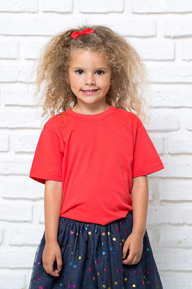 Футболка  детская 100% хлопок для девочки JHK Испания размеры от 3  до 14 лет