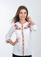 Блуза-сорочка - жіноча вишиванка біла, арт. 4116, фото 1