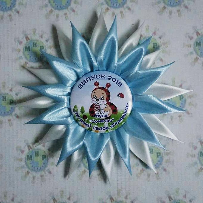 Значок для выпускника или первоклассника Снежинка