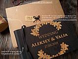 """Деревянная свадебная книга для пожеланий 17*29 см с тонированной обложкой """"Олень"""", фото 4"""