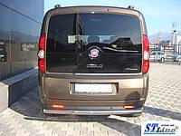 Защита заднего бампера  Fiat Doblo с 2005   /ровная