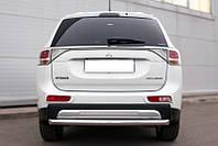 Защита заднего бампера Mitsubishi Outlander с 2012 /ровная