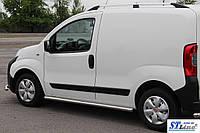 Боковые пороги  Fiat Fiorino 2008- /Ø60,без проступей