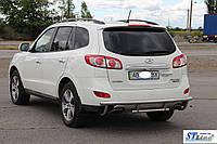 Hyundai Santa Fee (06 - 12) задняя защита