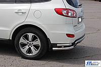 Hyundai Santa Fee (06 - 12) задняя защита углы