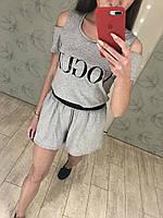 Костюм  шорты-юбка + футболка  Vogue