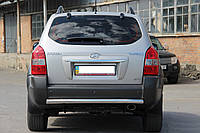 Защита заднего бампера  Hyundai Tucson с 2006… /ровная