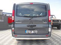Защита заднего бампера Opel  Vivaro /ровная