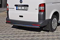 Защита заднего бампера Volkswagen  T-5  /ровная