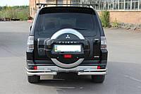 Защита заднего бампера Mitsubishi Pajero Wagon (2006-) /двойн углы