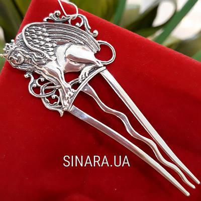 Срібний гребінь гребінець для волосся Королева Сфінкс