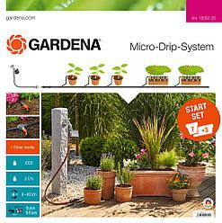 Комплект GARDENA микрокапельные поливу базовий з таймером для подачі води