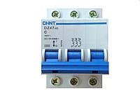 Автоматический выключатель трехполюсный 10А  DZ47-60 3P 4.5kA 10A
