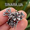 Срібна шпилька для волосся Квіти і Метелики, фото 5