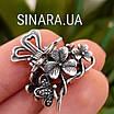 Срібна шпилька для волосся Квіти і Метелики, фото 4