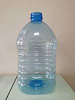 ПЕТ пляшка ємністю 5 літрів, 79.9 гр., з первинної сировини, блакитна.