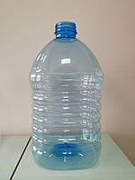 ПЕТ пляшка ємністю 5 літрів, 71.6 гр., з первинної сировини, блакитна.