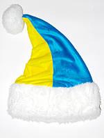 """Новогодняя Шапка Детская Деда Мороза Колпак Санта Клауса Santa Claus """"Патриот"""""""