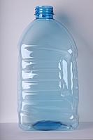 ПЕТ пляшка ємністю 4 літра, 84.0 гр., з первинної сировини, блакитна.