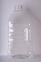 ПЕТ пляшка ємністю 4 літра, 84.0 гр., з первинної сировини, прозора.