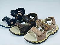 Босоножки сандалии летние на мальчика Кожа размеры 31- 33 Коричневые