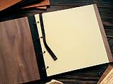 """Деревянная свадебная книга для пожеланий 22х23 см с тонированной обложкой """"The Wedding"""", фото 3"""