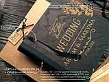 """Деревянная свадебная книга для пожеланий 22х23 см с тонированной обложкой """"The Wedding"""", фото 4"""