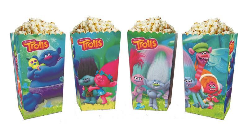 """Коробочки """"Тролі"""" для солодощів і попкорну, 5 шт/уп."""