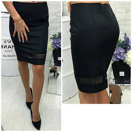Черная юбка миди, фото 2