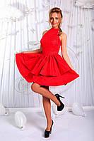 Стильное платье с двойной юбкой. Артикул: 17230