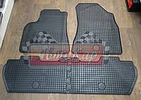 Резиновые ковры Peugeot PARTNER с 2008- / цвет: темно-серый