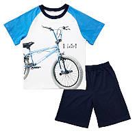 Комплект для мальчика футболка и шорты Велосипед оптом