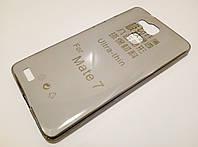Чехол силиконовый ультратонкий для Huawei Mate 7 затемненный