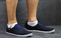 Мужские мокасины Gipanis,текстиль,темно синие, фото 2
