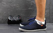Мужские мокасины Gipanis,текстиль,темно синие, фото 3