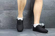 Мужские мокасины Gipanis,текстиль,черные, фото 2