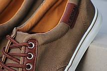 Мужские мокасины Bokai,текстиль,коричневые (Польша) 40р, фото 3