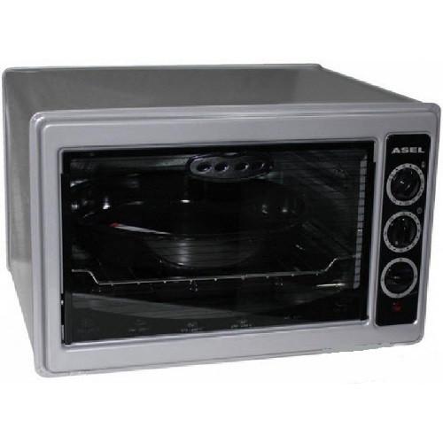 Электродуховка ASEL AF 0023 Grey, электрическая духовка, электропечь