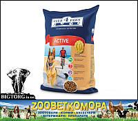 «Клуб 4 Лапи» повнораціонний сухий корм для дорослих активних собак 12кг 590 г